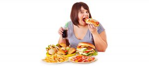 woman overeating cyclic overeating